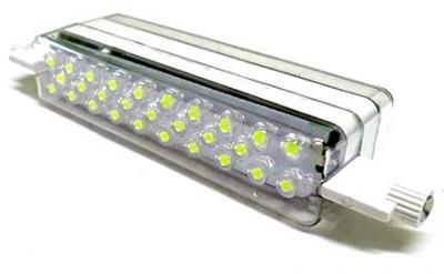 Lampada led r7s 118mm 56 led 220v bianco freddo for Lampada led r7s 118mm